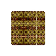 Seamless Symmetry Pattern Square Magnet