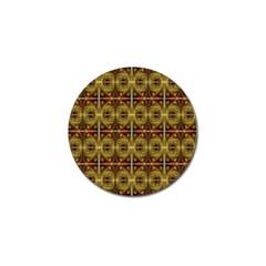 Seamless Symmetry Pattern Golf Ball Marker (10 Pack)