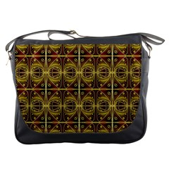 Seamless Symmetry Pattern Messenger Bags