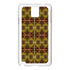 Seamless Symmetry Pattern Samsung Galaxy Note 3 N9005 Case (White)