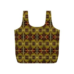 Seamless Symmetry Pattern Full Print Recycle Bags (s)