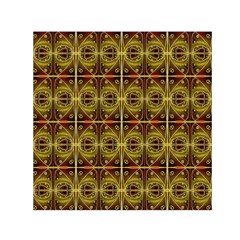 Seamless Symmetry Pattern Small Satin Scarf (Square)