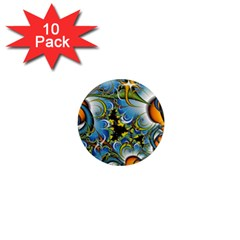 Fractal Background With Abstract Streak Shape 1  Mini Magnet (10 pack)