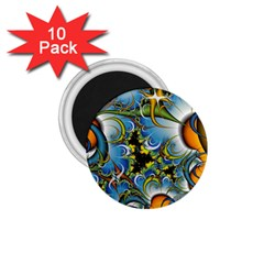 Fractal Background With Abstract Streak Shape 1 75  Magnets (10 Pack)