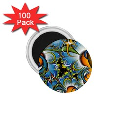Fractal Background With Abstract Streak Shape 1 75  Magnets (100 Pack)