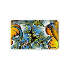 Fractal Background With Abstract Streak Shape Magnet (name Card)