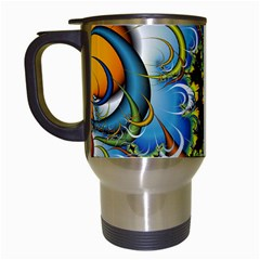 Fractal Background With Abstract Streak Shape Travel Mugs (white)