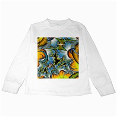 Fractal Background With Abstract Streak Shape Kids Long Sleeve T-Shirts