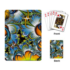 Fractal Background With Abstract Streak Shape Playing Card