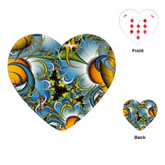 Fractal Background With Abstract Streak Shape Playing Cards (Heart)