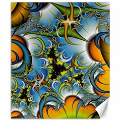 Fractal Background With Abstract Streak Shape Canvas 20  X 24