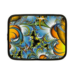 Fractal Background With Abstract Streak Shape Netbook Case (Small)