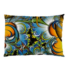 Fractal Background With Abstract Streak Shape Pillow Case