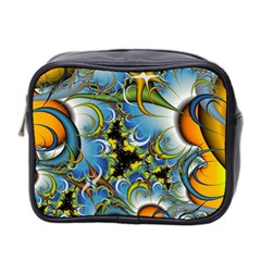 Fractal Background With Abstract Streak Shape Mini Toiletries Bag 2-Side