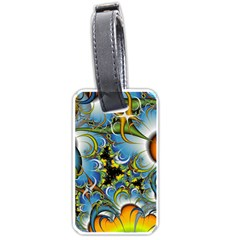 Fractal Background With Abstract Streak Shape Luggage Tags (one Side)