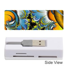 Fractal Background With Abstract Streak Shape Memory Card Reader (stick)