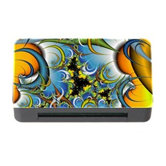 Fractal Background With Abstract Streak Shape Memory Card Reader with CF