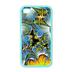 Fractal Background With Abstract Streak Shape Apple iPhone 4 Case (Color)