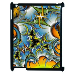 Fractal Background With Abstract Streak Shape Apple iPad 2 Case (Black)