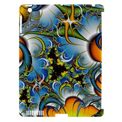 Fractal Background With Abstract Streak Shape Apple iPad 3/4 Hardshell Case (Compatible with Smart Cover)
