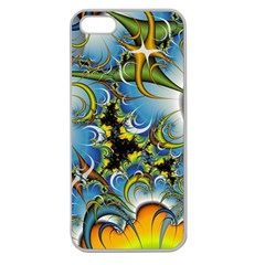 Fractal Background With Abstract Streak Shape Apple Seamless iPhone 5 Case (Clear)