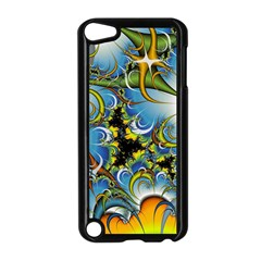 Fractal Background With Abstract Streak Shape Apple Ipod Touch 5 Case (black)