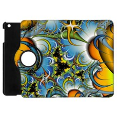 Fractal Background With Abstract Streak Shape Apple iPad Mini Flip 360 Case