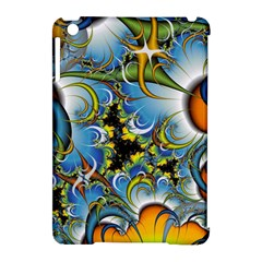 Fractal Background With Abstract Streak Shape Apple iPad Mini Hardshell Case (Compatible with Smart Cover)