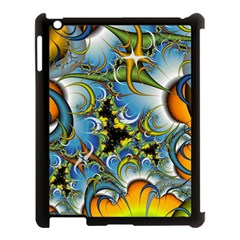 Fractal Background With Abstract Streak Shape Apple iPad 3/4 Case (Black)