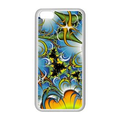 Fractal Background With Abstract Streak Shape Apple iPhone 5C Seamless Case (White)