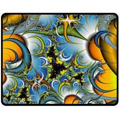 Fractal Background With Abstract Streak Shape Double Sided Fleece Blanket (Medium)
