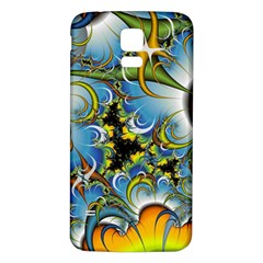 Fractal Background With Abstract Streak Shape Samsung Galaxy S5 Back Case (White)