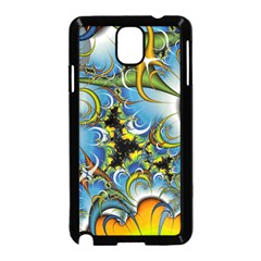 Fractal Background With Abstract Streak Shape Samsung Galaxy Note 3 Neo Hardshell Case (Black)