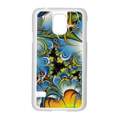 Fractal Background With Abstract Streak Shape Samsung Galaxy S5 Case (White)