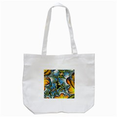Fractal Background With Abstract Streak Shape Tote Bag (white)