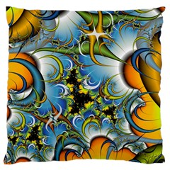 Fractal Background With Abstract Streak Shape Large Flano Cushion Case (Two Sides)