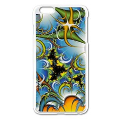 Fractal Background With Abstract Streak Shape Apple iPhone 6 Plus/6S Plus Enamel White Case