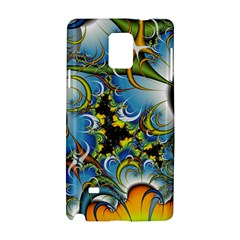 Fractal Background With Abstract Streak Shape Samsung Galaxy Note 4 Hardshell Case