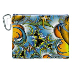 Fractal Background With Abstract Streak Shape Canvas Cosmetic Bag (XXL)