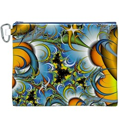 Fractal Background With Abstract Streak Shape Canvas Cosmetic Bag (xxxl)