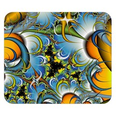 Fractal Background With Abstract Streak Shape Double Sided Flano Blanket (small)
