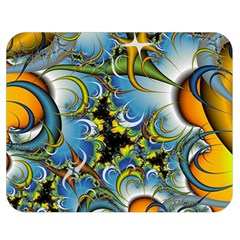 Fractal Background With Abstract Streak Shape Double Sided Flano Blanket (Medium)