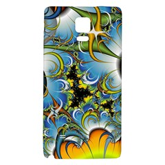 Fractal Background With Abstract Streak Shape Galaxy Note 4 Back Case
