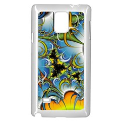 Fractal Background With Abstract Streak Shape Samsung Galaxy Note 4 Case (white)