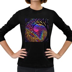 3d Fractal Mandelbulb Women s Long Sleeve Dark T Shirts