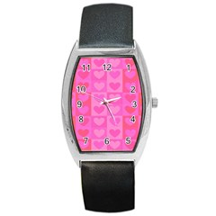 Pattern Barrel Style Metal Watch