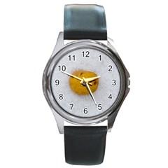 Hintergrund Salzkartoffel Round Metal Watch