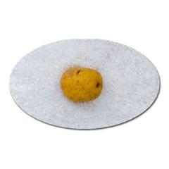 Hintergrund Salzkartoffel Oval Magnet