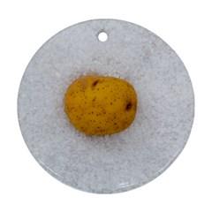 Hintergrund Salzkartoffel Round Ornament (two Sides)