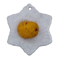 Hintergrund Salzkartoffel Ornament (Snowflake)